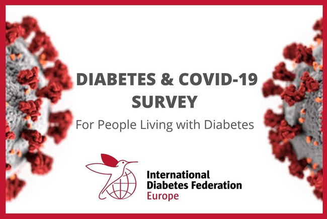 Logo der Umfrage zu COVID-19 und Diabetes der International Diabetes Federation Europe